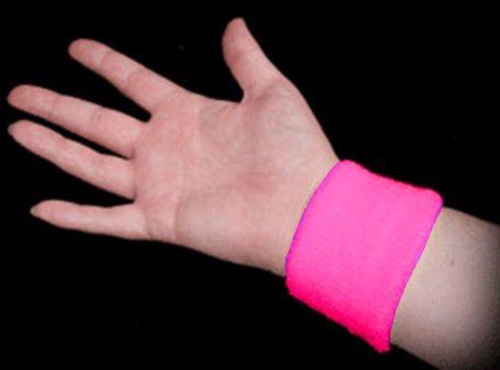 Neon Sweatbands - Pink (Image on Wrist)