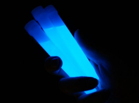 "6"" Glow Sticks with Lanyard - Blue"