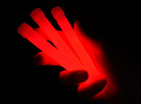 "6"" Glow Sticks with Lanyard - Red"