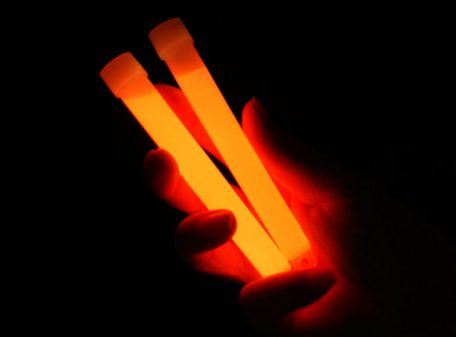 "6"" Glow Sticks with Lanyard - Orange"