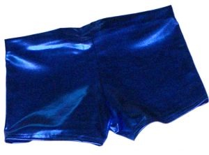 Blue Metallic Hotpants