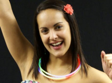 Glow Necklace - Tri Colour (Red, Blue, Green) (Image On Model)