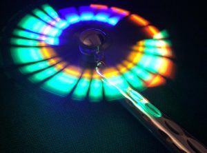Flashing LED Chrome Fan Wand
