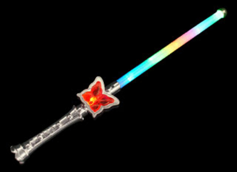 Butterfly sparkle wand glow sticks flashing novelties for Butterfly wands wholesale