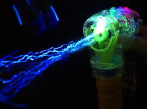 LED Light-Up Bubble Gun (With 2 Refill Bottles)