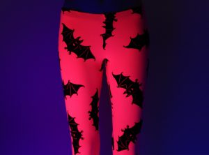UV Pink Bat Leggings