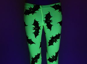 UV Yellow Bat Leggings