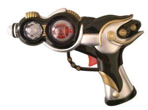 Flashing Space Blaster Gun - Black / Gold