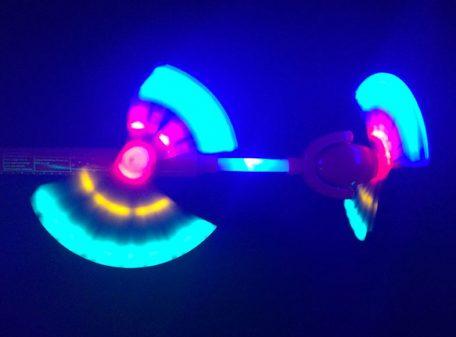 Double LED Swivel Fan Wand