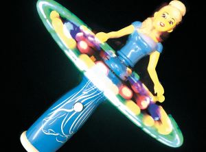 Blue Princess Atomic Spinner - Light Up