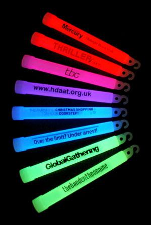 Promotional Branding On Glow Sticks