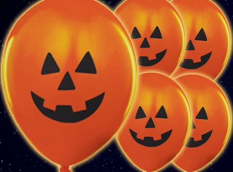 Light Up Balloons - Pumpkin 5 Pack