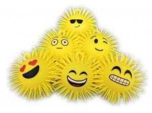 Flashing Emoji Puffer Balls