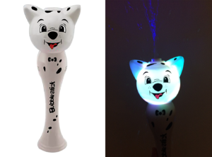 Flashing Dog Bubble Stick Wand