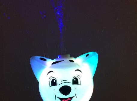 Flashing-Bubble-Stick-Wand-White-Dog-LIT-UP